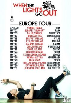 """NEWS: The electronic artist, Will Sparks, has announced the """"When The Lights Go Out European Tour"""" set for the month of May. You can check out the dates and details at http://digtb.us/WILLSPARKS"""