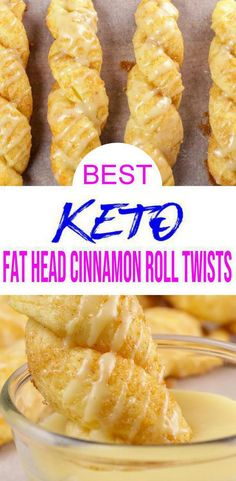 Keto cinnamon roll twists that taste AMAZING! Easy keto fathead dough cinnamon roll twists you are NOT going to want to pass up. Simple, quick and delicious low carb cinnamon roll recipe. Keto Desserts, Keto Snacks, Keto Recipes, Homemade Desserts, Dessert Recipes, Best Low Carb Recipes, Yogurt Recipes, Flour Recipes, Cookbook Recipes