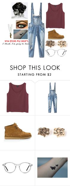 """""""Untitled #1030"""" by troylerzalfie ❤ liked on Polyvore featuring Monki, Relaxfeel, UGG Australia, Kenzo, GlassesUSA, Feather and Skull, women's clothing, women, female and woman"""