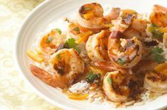 Chipotle-Orange Shrimp Recipe - Kraft Recipes 6 ingredients ready in 10 minutes Shrimp And Rice Dishes, Seafood Dishes, Seafood Recipes, Dinner Recipes, Cooking Recipes, Orange Shrimp Recipes, 15 Minute Dinners, Easy Dinners, Carnivore