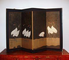 antiques small cranes screen