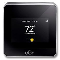 This thermostat is smarter than us! Checkout the new COR thermostat by Carrier for maximum comfoirt and energy savings.