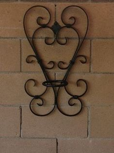 Items similar to Two heart wrought iron flower pot holder on Etsy – Metal Plant Hanger Wrought Iron Chairs, Wrought Iron Decor, Wrought Iron Gates, Wall Candle Holders, Plant Holders, Metal Plant Hangers, Metal Bending, Iron Furniture, Flower Stands