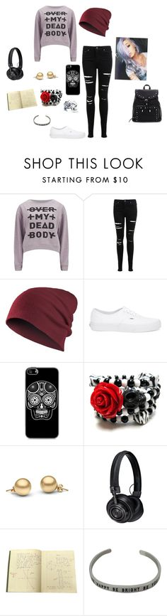 """""""//Me-*smirks* over my dead body..//"""" by littleblondegreek123 ❤ liked on Polyvore featuring Cheap Monday, Miss Selfridge, Vans and Master & Dynamic"""