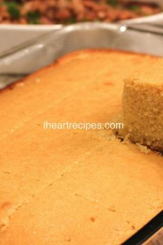What is the perfect southern comfort food side dish? Cornbread of course! This southern cornbread recipe is sweet, moist, buttery and delicious. Sweet Cornbread, Southern Recipes, Cornbread Recipes, Southern Dishes, Southern Food, Soul Food Cornbread Dressing, Southern Caramel Cake, I Heart Recipes, Pastries