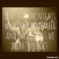 """-- #LyricArt for """"Friends We Won't Forget"""" by Lee Brice"""