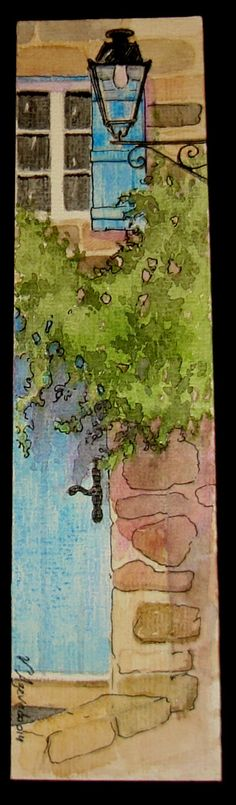 Watercolour on card 22x5,5cm