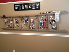 DIY creative way to use old ladder and chicken wire!