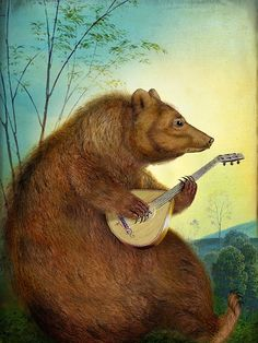 I would love a mandolin-playing bear