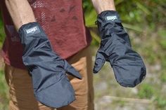 ZPacks.com Ultralight Backpacking Gear - Waterproof Breathable Cuben Fiber Shell Mittens. Mine are white.