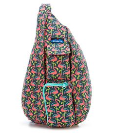 Pink Flamingo Kavu Printed Rope Messenger Bag Pink Flamingos d0933bda14c1b