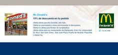 10% de descuento en McDonalds con la Tarjeta Confianza. http://www.hospitalmedimar.com/confianza/
