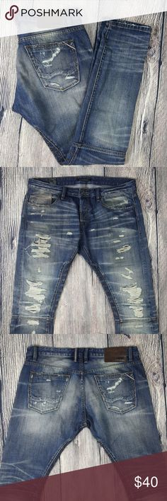 Cult of Individualty Greaser Moto Mens Jeans Size 38x34 NWOT Cult of Individualty Greaser Moto Mens Distressed Dark Wash Jeans. Jeans are in Near New Condition, no flaws, all markings and colors are part of original distressed look. (Bin 20) Cult of Individuality Jeans