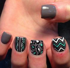 Cute grey nails