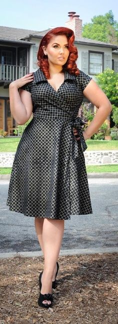 Fashionista: Elegant Plus Size Dress                                                                                                                                                                                 More