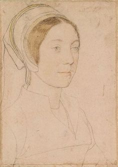 Hans Holbein the Younger - Unknown woman formerly known as Catherine Howard RL 12218 - List of portrait drawings by Hans Holbein the Younger - Wikipedia Alphonse Mucha, Tudor History, British History, Hans Holbein The Younger, Royal Collection Trust, King Henry Viii, Portrait Sketches, Albrecht Durer, Anne Boleyn