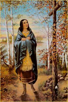 Saint Kateri Tekawitha..So glad to hear she finally received sainthood.