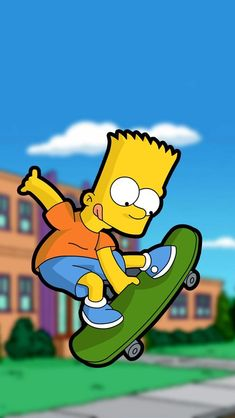 Aí caramba the simpsons bart skateboard phone wallpaper background for iphone and android ipad. Simpson Wallpaper Iphone, Cartoon Wallpaper, Wallpaper Backgrounds, Iphone Wallpaper, Wallpapers, Homer Simpson, Simpsons Drawings, Simpsons Art, The Simpsons