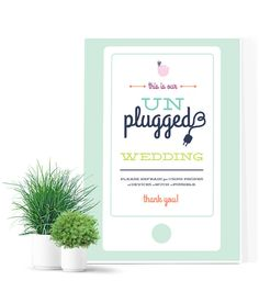 The Kesley  Unplugged wedding ceremony sign no by MDBWeddings