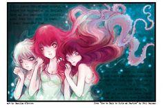 Neil Gaiman Collab Print by camilladerrico.deviantart.com