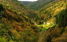 Veredas a la sombra de frondosos bosques, hermosos pueblos, caseríos  y senderos que discurren junto al río http://blgs.co/ktE2VS