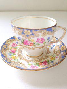 Vintage English Bone China Old Royal China Teacup and Saucer Tea Party