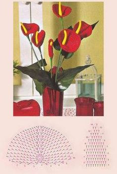 Flores a ganchillo