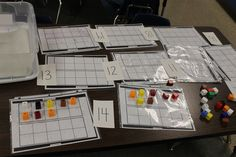 compose and decompose numbers with cubes and ten frames