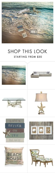 """""""Beach house 🏖🏝"""" by emmilie-mcneely ❤ liked on Polyvore featuring interior, interiors, interior design, home, home decor, interior decorating, Stylecraft, Primitives By Kathy and Tommy Bahama"""