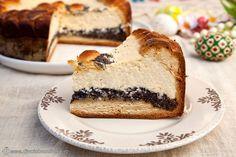 PASCA CU MAC | Diva in bucatarie Mac Diva, Cheesecake, Desserts, Food, Easter, Tailgate Desserts, Deserts, Cheesecakes, Essen