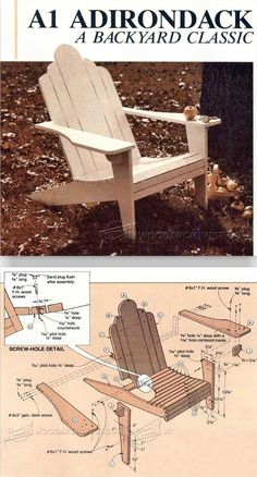 Adirondack Plan - Outdoor Furniture Plans and Projects | WoodArchivist.com