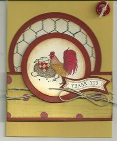 SC394, Country Chicken by barbaradwyer82 - Cards and Paper Crafts at Splitcoaststampers
