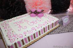 Original tarta para celebración de Baby shower. #babyshower #tarta #pastel #fondant