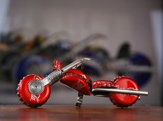 Redneck motorcycle made of bottle caps via Etsy- Redneck Traysures