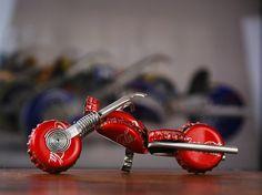 Redneck motorcycle made of bottle caps via Etsy- Redneck Traysures