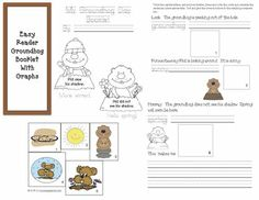9 pages. A great booklet for your students to make that covers many report card standards. 9 pages. A great booklet for your students to make that cov. Groundhog Day Activities, Graphing Activities, Science Activities, Teacher Freebies, Classroom Freebies, Classroom Ideas, Concepts Of Print, Counting To 20, Kindergarten Social Studies
