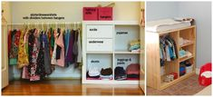 Our Montessori home – the closet from Montessori Works Double Rod Metal Freestanding Closet with Cover…IKEA Hack: KALLAX into toddler closet! Remove one…Tips for Montessori Spaces at HomeMontessori Sewing Works by Aimee of Montessori Works Montessori Baby, Montessori Bedroom, Maria Montessori, Baby Bedroom, Girls Bedroom, Room Baby, Trendy Bedroom, Kid Closet, Closet Ideas