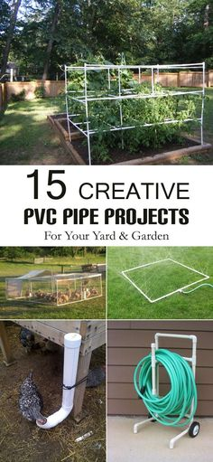 15 Creative PVC Pipe Projects For Your Yard and Garden - Be inspired to think about your next PVC projects.