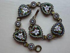 italian mosaic artists   Details about Vintage Art Deco Italian Micro Mosaic Bracelet Heart ...