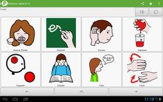 PictoVox:  aplicativo de Comunicação Aumentativa e Comunicação Alternativa desenvolvido para auxiliar pessoas com deficiência, dificuldades ou limitações de comunicação. Como uma Prancha de Comunicação Alternativa, o PictoVox trabalha através de voz sintetizada e pictogramas, o usuário pode formar sentenças e se comunicar com as pessoas ao seu redor ou enviando as frases geradas através de outros aplicativos mensageiros. Este aplicativo está em versão Beta e em breve receberá novas atualizações! Google Play, Software, App, Comics, Assistive Technology, Cerebral Palsy, Infant Sensory, Special Education, Apps