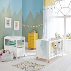 Schubladenmöbel aus Holz gelb L 50 cm