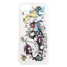 Disney Alice In Wonderland Sketch iPhone 5/5S Case | Hot Topic ($13) ❤ liked on Polyvore featuring accessories, tech accessories, phone case, phones e disney