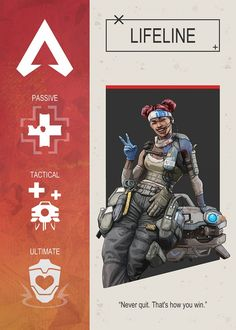 Lifeline Apex Legends Character Poster Poster by Gemini Phoenix.Featuring Art from the popular Battle Royale video game.In sizes M-L-XL.