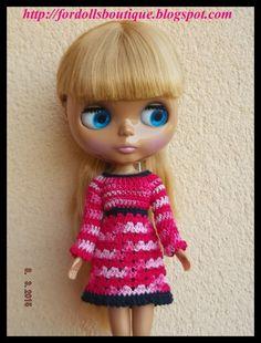 Vestido para muñecas Blythe / Blythe doll dress