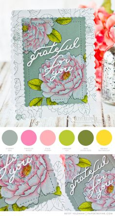 Grateful For You Card by Betsy Veldman for Papertrey Ink (May 2017)