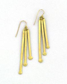 The Brass Drop Earrings by JewelMint.com, $29.99