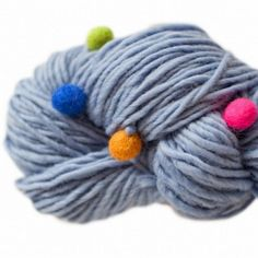 Feza Candy Deluxe Yarn | Wool Yarn with colorful felted balls!