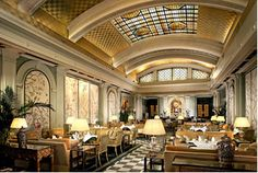 Take tea at the Art Deco Palm Court at the Sheraton on Park Lane, London. £41 per person