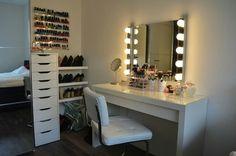 Super Makeup Room Ideas Diy Make Up Closet 34 Ideas Girls Bedroom, Bedroom Decor, Bedrooms, Vanity Room, Glam Room, Makeup Rooms, Dream Rooms, Ikea Hacks, New Room