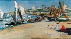 """""""Playa Bristol Mar del Plata"""" Autor: Julio Vila y Prades #arte #art #painting"""